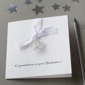 Personalised Wire Star Graduation Card - graduation cards
