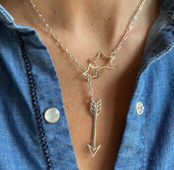 Infinite Star Arrow Necklace