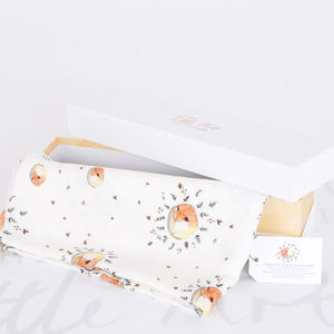 Bamboo Baby Swaddle Fox Blanket