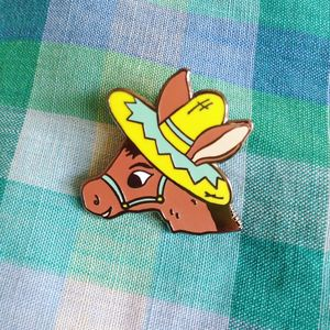 Donkey Enamel Pin Badge - pins & brooches