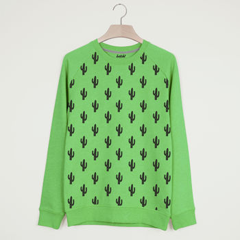Cactus All Over Print Unisex Summer Sweatshirt