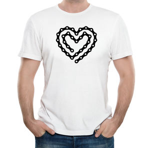 'Bike Chain Heart' T Shirt