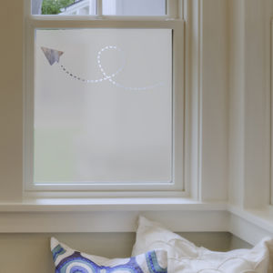 Paper Planes Frosted Window Film - bedroom