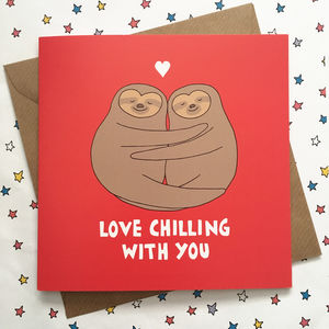 Sloth Valentines's Day Card