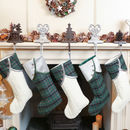 Set Of Five Highland Tartan Christmas Stockings