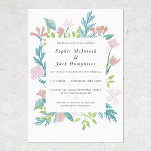 Summer Wedding Invites, Bouquet Frame - spring styling