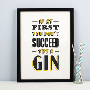 'Try A Gin' Print