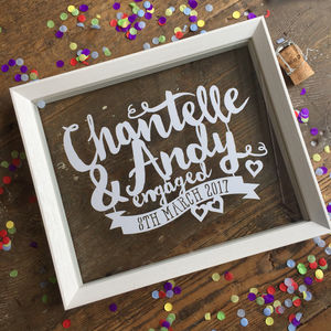 Engagement Names And Date Papercut - best wedding gifts