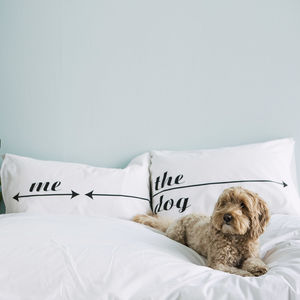 Personalised Pillowcase Set For Dog Lovers - bed, bath & table linen