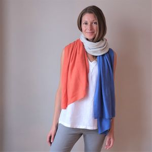 Multi Colour Cashmere Wool Wrap Shawl - summer sale