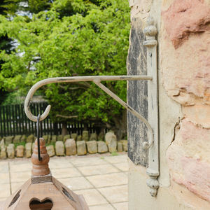 Chalk Grey Iron Lantern Bracket Hook