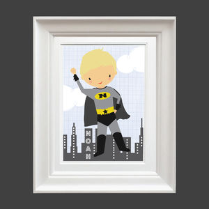 Personalised Super Hero Print