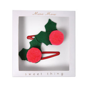 Christmas Sweet Thing Hair Clips - stocking fillers