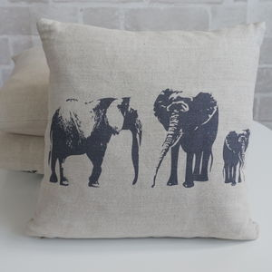 Elephant Family Mini Cushion - children's room