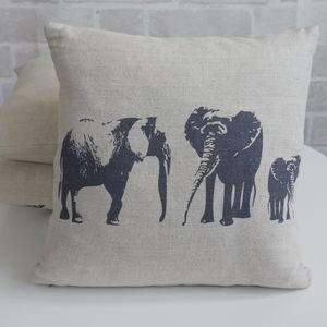 Elephant Family Mini Cushion - bedroom