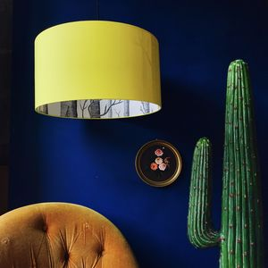 The Woods Lampshade In Sunshine Yellow