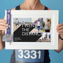 'I Went The Distance' Marathon Photo Collage Print