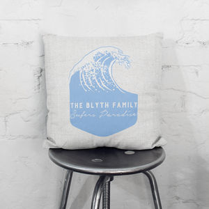 Personalised Wave Cushion - cushions