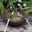 Oak Leaf Mossy Nest Wedding Ring Dish