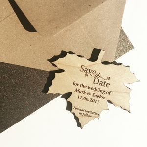 Autumn Leaf Save The Date Magnet - save the date cards