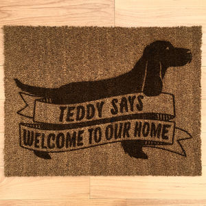 Personalised Dog Breed Doormat With Cocker Spaniel