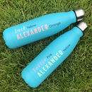 Personalised Reusable Blue Water Bottle