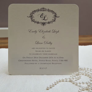 Victorian Personalised Wedding Invitations - wedding stationery