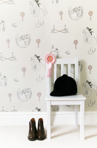 Horse Tales: Cream And Pink - wallpaper