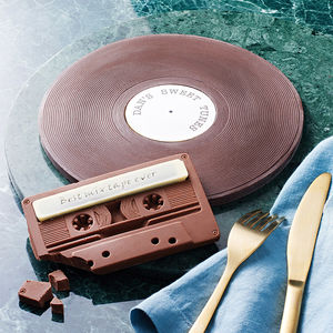 Personalised Chocolate Vinyl Record And Cassette Duo - sweet treats