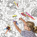 Colour In Giant Poster Tablecloth Animals Personalse It