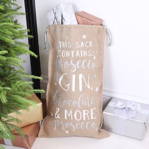Festive Alcohol Quote Christmas Sack - winter sale