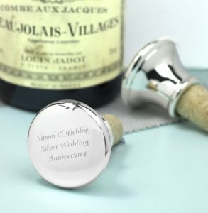 Personalised Silver Bottle Stopper - kitchen