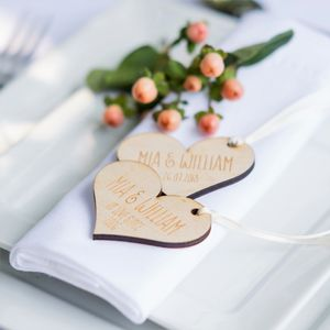 10pk Personalised Wooden Wedding Tags