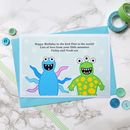 Personalised birthday card for Dad / Daddy / Grandad etc from their 'little monsters'