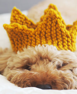 Chunky Knit Christmas Crown