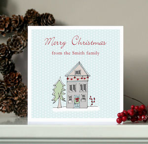 Pack Of Five Or 10 Family Home Christmas Cards