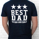 Personalised 'Best Dad' T Shirt
