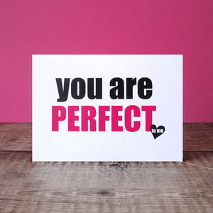 'You Are Perfect' Card - summer sale