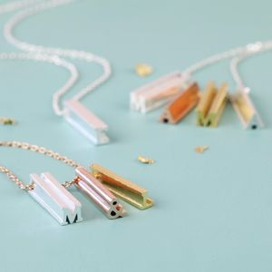 Personalised Initial Shape Bar Necklace - necklaces & pendants