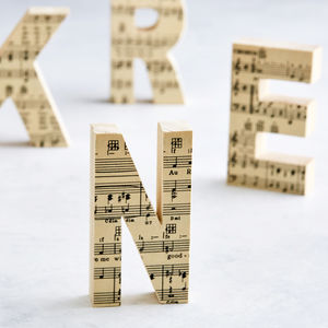 Music Lover Wooden Letter Personalised Gift