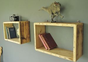 Reclaimed Antique Wood Shelving Units - office & study