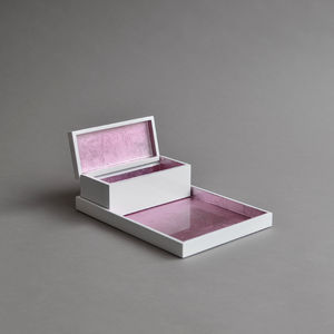 Lacquer Vanity Tray And Box Set