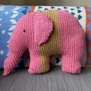 Pink Elephant Knitting Pattern