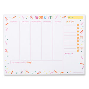 'Work It!' Confetti Weekly Planner - 2018 calendars & planners