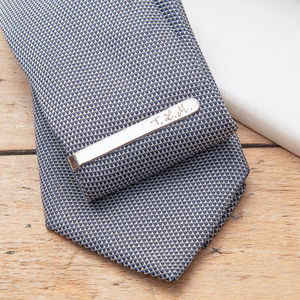 Personalised Sterling Silver Tie Clip - mens