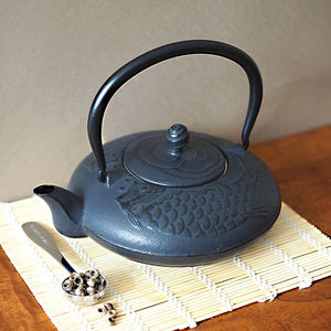 Black Koi Cast Iron Teapot 900ml