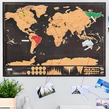 Deluxe Scratch Off 'Push Pin World Map Bundle