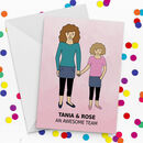 Design Your Own Mum And Daughter Mother's Day Card