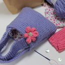 Girl's Bag And Purse Knitting Kit