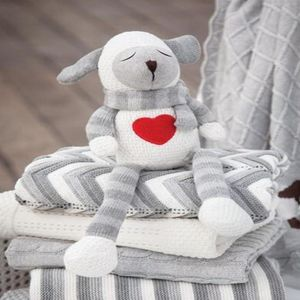Knitted Lamb Soft Toy